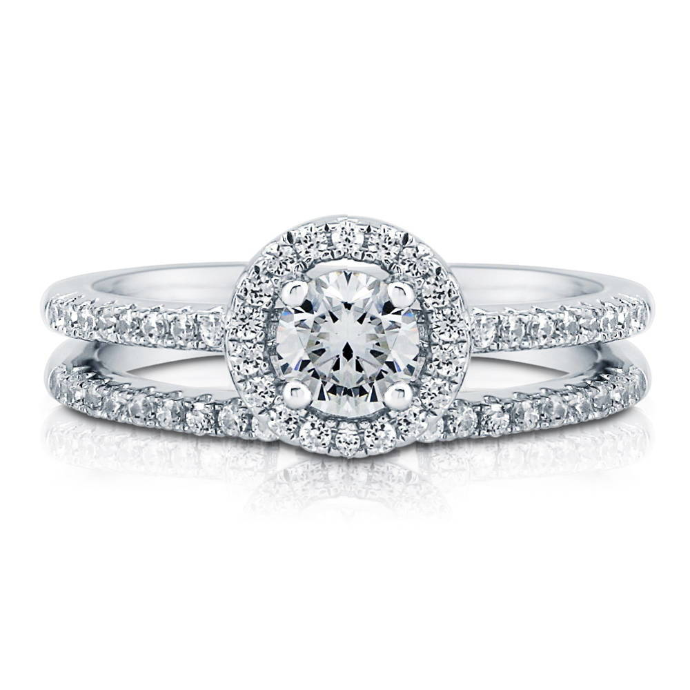 berricle sterling silver 0 74 ct tw cz halo